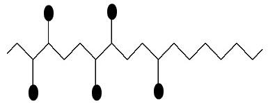 Representação da estrutura da resina arábica de galactose