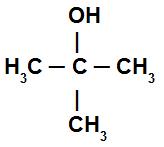 Álcool com hidroxila ligada a um carbono terciário