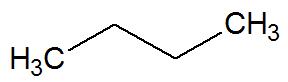 Fórmula estrutural de uma cadeia aberta saturada