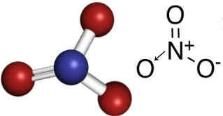 Fórmula do ânion nitrato