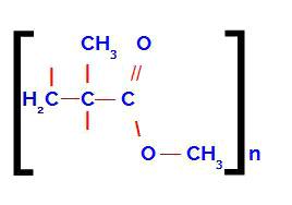 Fórmula estrutural do acetato de polivinila