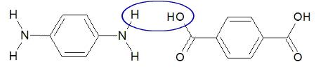 Água formada a partir do ácido p-benzenodioico e benzenodiamina
