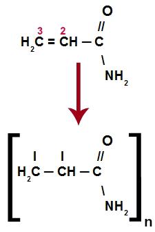 Equação de polimerização da poliacrilamida