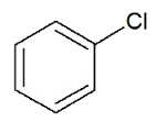 Fórmula estrutural de haleto aromático