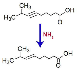 Equação de formação do ácido 8-metil-non-6-enoico