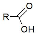 Representação estrutural de uma carboxila