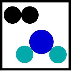 Representação de uma mistura segundo a teoria atômica de Dalton