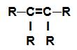 Fórmula estrutural de um alceno