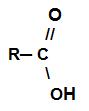 Estrutura geral de um ácido carboxílico