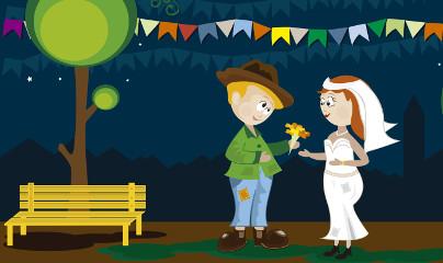 """O """"casamento caipira"""" é uma das partes mais divertidas da Festa Junina"""
