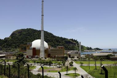 Usina nuclear de Angra dos Reis, no Rio de Janeiro