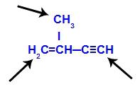 Fórmula estrutural de uma cadeia aberta