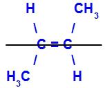 Exemplo de um isômero trans