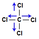 Vetores na estrutura do tetraclorometano