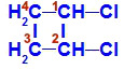Fórmula estrutural do 1,2-dicloro-ciclobutano