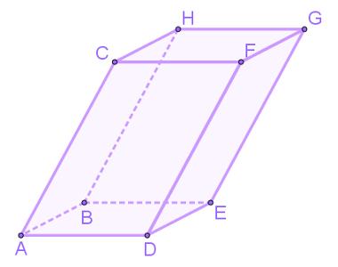Exemplo de paralelepípedo que não é retangular