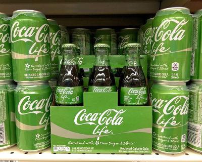 Embalagem de Coca-Cola com Stevia