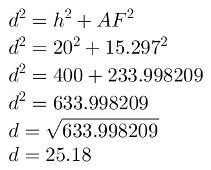 Cálculo da diagonal com teorema de Pitágoras - segunda parte