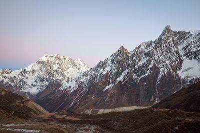 Cordilheira do Himalaia, região onde o sal rosa é extraído