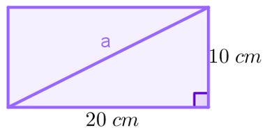 Diagonal de um retângulo