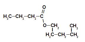Fórmula estrutural do éster da essência de morango