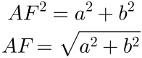 Hipotenusa do triângulo ABF