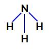 Fórmula estrutural da amônia