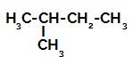 Fórmula estrutural do 2-metil-butano