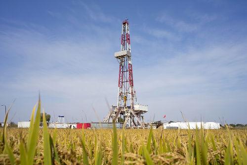 Equipamento utilizado para perfurar e retirar gás do subsolo