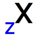 Representação do número atômico na sigla de um átomo qualquer