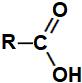 Fórmula estrutural geral de um ácido carboxílico