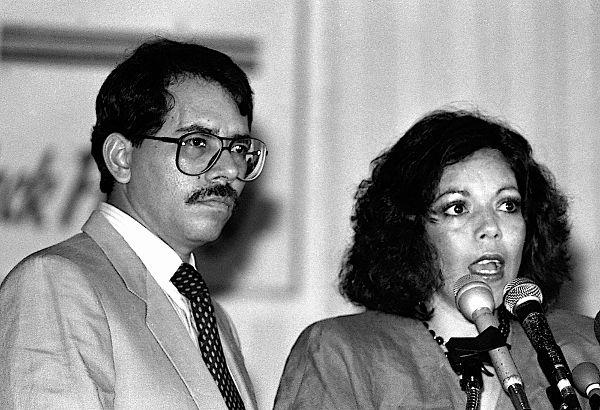 Daniel Ortega em foto tirada nos EUA durante seu mandato do período 1986-1990**