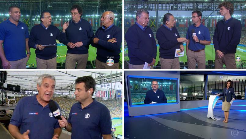 bda78657fd Integrantes da cobertura da TV Globo na final olímpica do futebol masculino  (fonte  reprodução TV)
