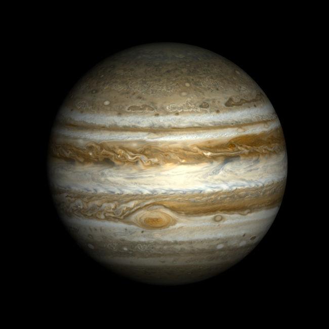 Júpiter é o maior planeta do Sistema Solar.