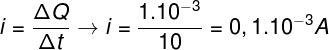 Cálculo da corrente elétrica – exercício 1