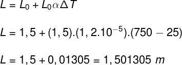 Cálculo do comprimento final
