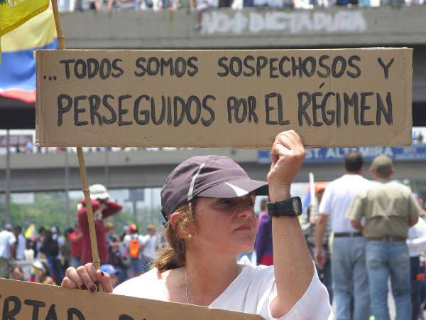 Protesto contra Nicolás Maduro