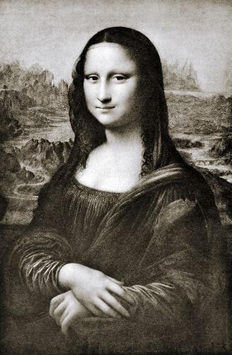 A Mona Lisa, obra de Leonardo Da Vinci, é uma das grandes obras da arte renascentista.**