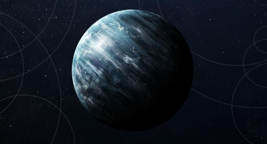 Urano possui cor azulada devido à presença de metano.