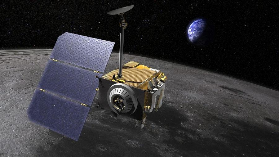 Concepção artística da Lunar Reconnaissance Orbiter, sonda lunar lançada em 2019. (Créditos da imagem: Nasa)