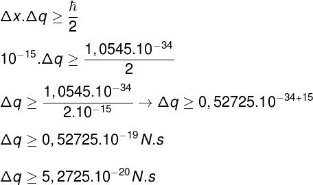 Cálculo do princípio da incerteza