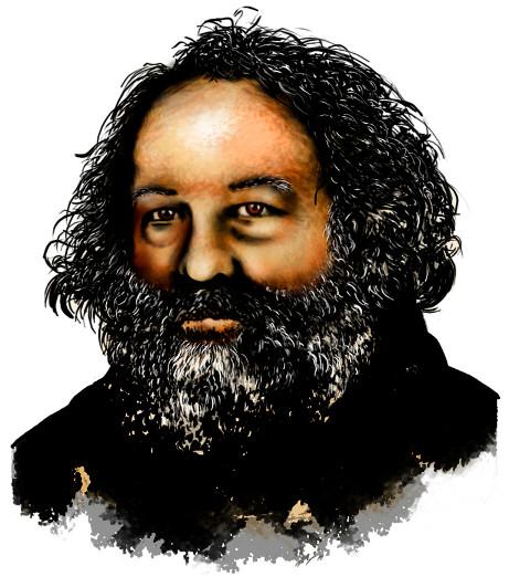 Mikhail Bakunin, um dos principais teóricos do anarquismo.