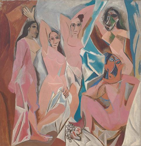 O quadro As senhoritas de Avignon (1907), exposto no museu MoMA. [4]