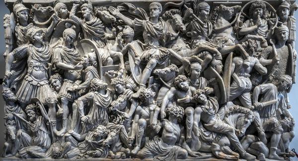 As invasões germânicas foram um dos fatores que mais contribuíram para a desagregação do Império Romano do Ocidente. [1]