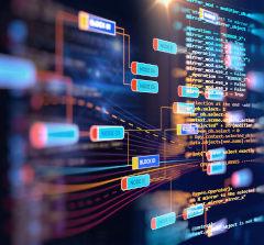 Ilustração futurista representando o Big Data