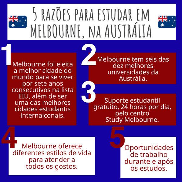 Razões para estudar em Melbourne