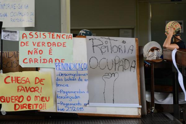 Reitoria da UnB ocupada em 2015. Foto: Marcello Casal jr/Agência Brasil